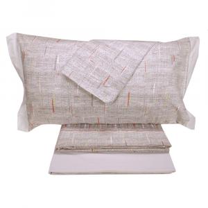 Set lenzuola invernali matrimoniale 2 piazze caldo cotone grigio