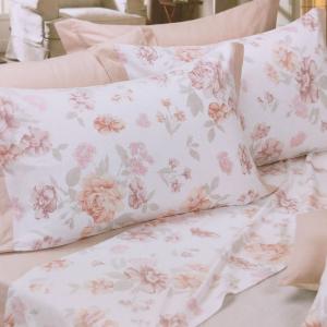 Set lenzuola invernali matrimoniale 2 piazze caldo cotone Camelie rosa