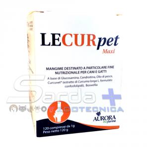LECURPET MAXI 120 cpr - supporto al metabolismo articolare per cani e gatti