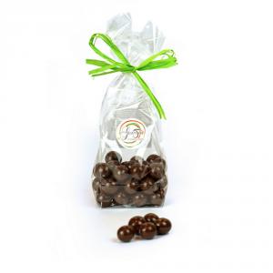 Confezione di Dragèes da 100 grammi, chicco di caffè ricoperto da cioccolato fondente