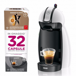 DeLonghi Macchina Caffe' Dolcegusto EDG100.W con Kit 32 Capsule