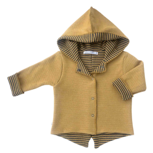 Cardigan Parker con cappuccio double face Bamboom