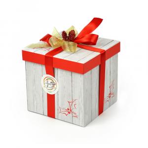 Confezione regalo GustoTop, pratica ed elegante scatola a forma di cubo da riempire con i nostri prodotti, ideale anche  per fare un gustoso regalo