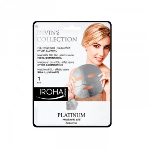 Iroha Nature Platinum Maschera Foil Effetto Sauna Illuminate 1 Usi