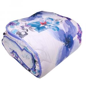Trapunta invernale matrimoniale HAPPIDEA 260x260 cm Premium floreale bluette