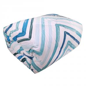 Trapunta invernale matrimoniale HAPPIDEA 260x260 cm Basic zig-zag azzurro