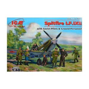SPITFIRE LF.IXE + SOVIET PILOTS & GROUND PERSON.