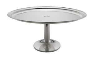 Vassoio ovale con base da buffet argentato argento sheffield cm.47x36x22h