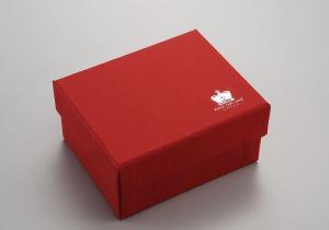 Scatola rossa cm.8,5x8,5x7h