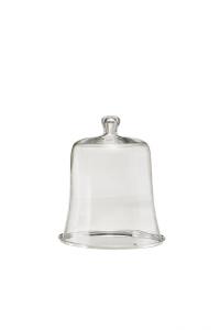 Piatto tondo argentato argento con campana in vetro Provence stile Cardinale cm.32h diam.27,5