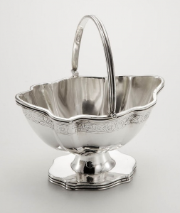 Zuccheriera argentato argento sheffield stile inciso cm.16x11x10,5h