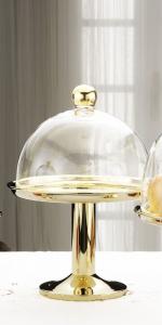 Alzata dorata con campana stile Cardinale dorato cm.35h diam.25,5