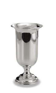 Vaso gaziella stile Cardinale argentato argento sheffield cm.16h diam.8
