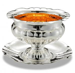 Piatto tondo Barocco stile Barocco argentato argento sheffield cm.3h diam.37