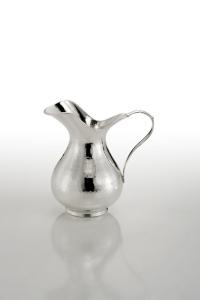 Brocca Acqua Vino argentata argento stile Inglese cm.15x10x17h