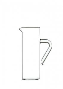 Caraffa in vetro con manico ml 750 cm.22h diam.8