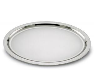 Vassoio ovale in acciaio stile Cardinale cm.42x32