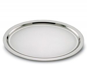 Vassoio ovale in acciaio stile Cardinale cm.45x35