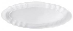 Piatto ovale in porcellana per pesce stile Barocco cm.53x21,5x3h