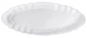Piatto ovale in porcellana per pesce stile Barocco cm.60x25x4h
