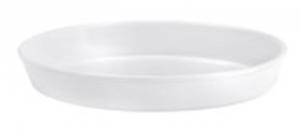 Pirofila risottiera ovale in porcellana liscia