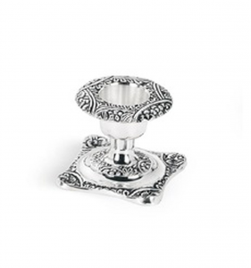 Bugia quadra cesellata stile cesellato argentato argento sheffield cm.4h