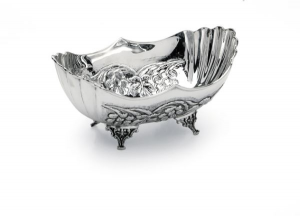 Ciotola ovale stile cesellato argentato argento sheffield Italia cm.26x16