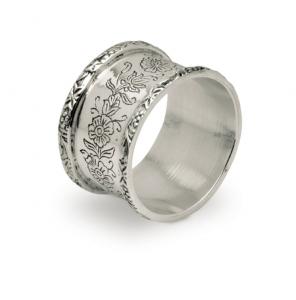 Legatovagliolo stile cesellato argentato argento sheffield cm.diam.5