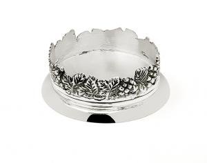 Sottobicchire argentato argento sheffiel stile grappe cm.4h diam.11