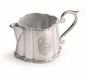 Lattiera stile inciso argentato argento sheffield cm.14xx7h