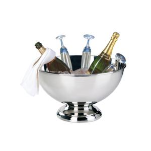 Spumantiera Coppa champagne Punch in acciaio inox stile Cardinale cm.25h diam.42