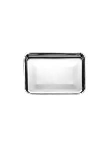 Vassoio rettangolare da pasticceria in acciaio inossidabile cm.30x22x2h