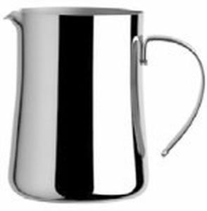 Lattiera 8 tazze 80 cl acciaio argentato argento sheffield cm.12,5h diam.8,5