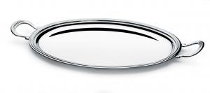 Vassoio ovale con manici stile Inglese argentato argento sheffield cm.46x37