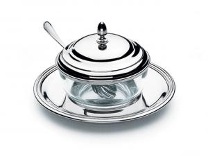 Formaggiera argentata argento  stile Inglese cm.diam.17