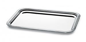 Vassoio rettangolare argentato argento silver plated sweet home stile Inglese cm.35x25