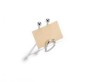 Segnaposto argentato argento stile filo cm.4x3,5x6,5h