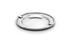 Sottobicchiere argentato argento in stile Inglese cm.diam.11