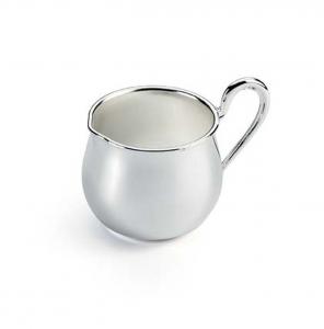 Lattiera piccola in argentato argento sheffield cm.9x5,5x7h diam.5,5