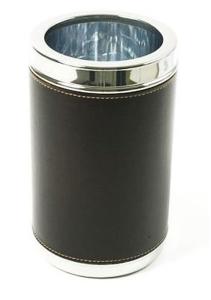 Termo bottiglia con pelle argentato argento sheffield