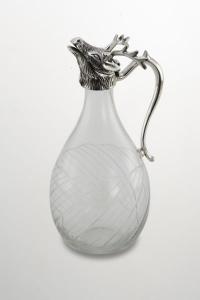 Brocca in vetro e argentato argento sheffield