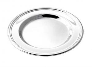 Sottobicchiere argentato argento silver plated stile Inglese cm.11,3x11,3x1h diam.11