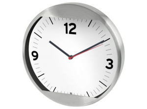 Orologio muro alluminio cm.4,5h diam.25