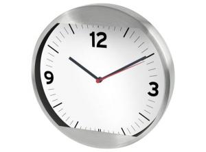 Orologio muro alluminio cm.29,4x29,4x5h diam.29