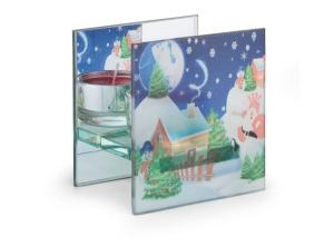 Portacandela natalizio cm.6,3x9x9h