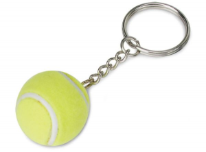 Portachiavi pallina da tennis cm.12h diam.3
