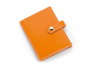 Portabiglietti da visita orange cm.11x7,5x1h