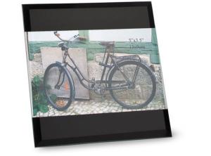 Portafoto black in vetro cm.13x9x1h