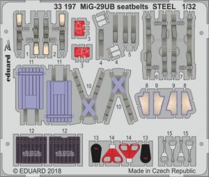 MiG-29UB seatbelts STEEL (TRUMPETER)