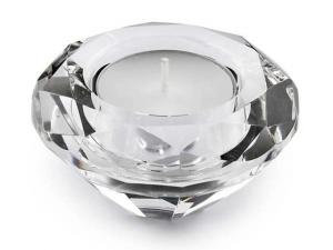 Portacandela a forma di diamante cm.3,5h diam.7,5